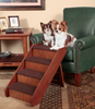 Large PupSTEP Wood Dog Stairs in use
