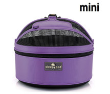 Violet Sleepypod Mini Airline Approved Pet Carrier, Car Safety Seat, Bed for SMALL pets.