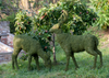 Mossed Deer Garden Topiary Sculptures look incredibly life-like when pared with a Doe (sold separately).