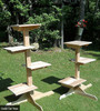 Outdoor/Indoor Cedar Cat Trees - three and four perch sizes shown