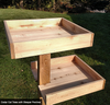 Outdoor/Indoor Cedar Cat Tree shown with Optional Sleeper Platforms