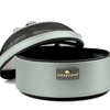 Glacier Silver Sleepypod Pet Bed Carrier Car Safety Seat had a dome lid that zips off for easy access to your pet..