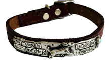 The Grass Is Always Greener Under My Wiener Custom Dog Collar features a lead-free Pewter centerpiece