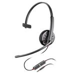 Plantronics Blackwire C215 Over-the-Head Monaural USB Headset (205203-12)