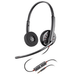 Plantronics Blackwire C225 Over-the-Head Binaural USB Headset (205204-12)