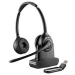 Plantronics Savi W420 Wireless Over-the-Head Binaural USB Headset, DECT 6.0 (84008-03)
