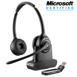 Plantronics Savi W420-M Wireless Over-the-Head Binaural USB Headset, DECT 6.0 (84008-01)