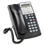 Avaya Partner 6D 6 Button Phone, Black