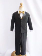 Boy Tuxedo Black with Gold Vest