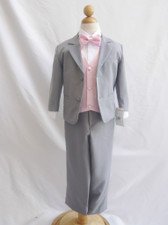 Boy Suit Gray with Pink Light Vest