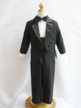 Boy Tuxedo Black with Brown Cummerbund, Tie