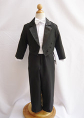 Boy Tuxedo Black with White Cummerbund, Tie