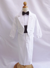 Boy Suit White with Brown Cummerbund, Tie