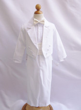 Boy Suit White with Ivory Cummerbund, Tie