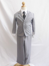 Boy Suit Gray with Black Vest, Tie