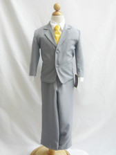 Boy Suit Gray with Yellow Vest, Tie