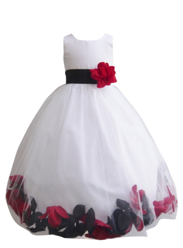 Rose Petal Dress Combination Black and Red (Custom Colors)
