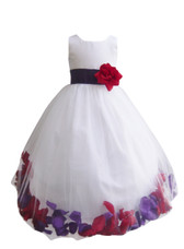 Rose Petal Dress Combination Purple and Red (Custom Colors)