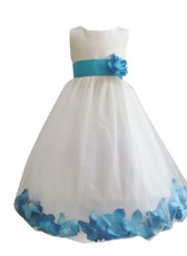 Flower Girl Dress Rose Petal Ivory
