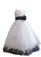 Flower Girl Dress Rose Petal White