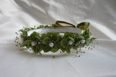 Flower Girl Dress Headpiece or Crown Green Olive