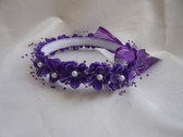 Flower Girl Dress Headpiece or Crown Purple
