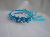 Flower Girl Dress Headpiece or Crown Turquoise