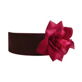 Flower Girl Dress Sash Burgundy