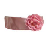 Flower Girl Dress Sash Dusty Rose