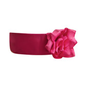 Flower Girl Dress Sash Fuchsia