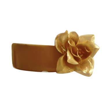 Flower Girl Dress Sash Gold
