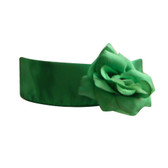 Flower Girl Dress Sash Green Clover Kelly