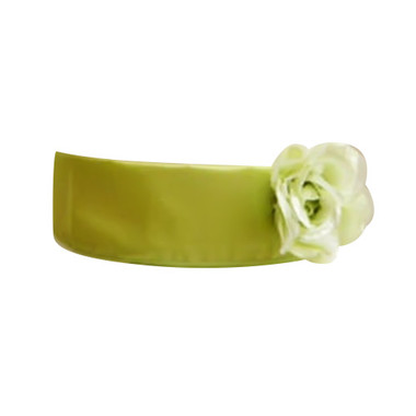 Flower Girl Dress Sash Green Lime