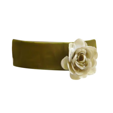 Flower Girl Dress Sash Green Olive