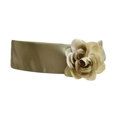 Flower Girl Dress Sash Green Sage