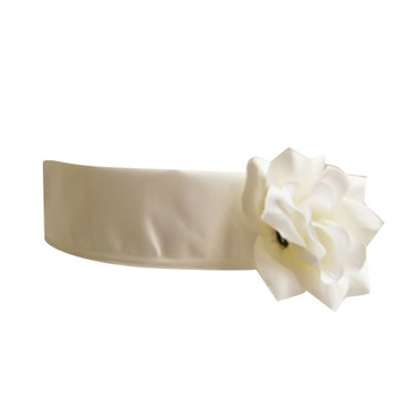 Flower Girl Dress Sash Ivory