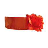 Flower Girl Dress Sash Orange