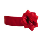 Flower Girl Dress Sash Red Cherry