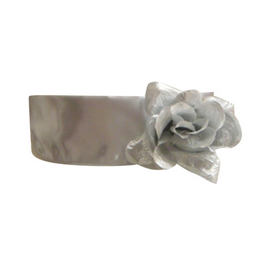 Flower Girl Dress Sash Silver