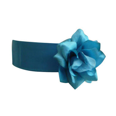 Flower Girl Dress Sash Turquoise