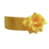 Flower Girl Dress Sash Yellow
