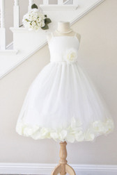 Ivory Rose Petal with Ivory Spaghetti Dress (Custom Colors)