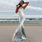 Silver #3 Women Formal Gown Wedding Bridesmaid Evening Party Bodycon Prom Cocktail Dress