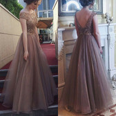 Apricot #9 Women Formal Gown Wedding Bridesmaid Evening Party Bodycon Prom Cocktail Dress