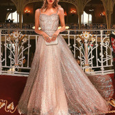 Gold #25 Women Formal Gown Wedding Bridesmaid Evening Party Bodycon Prom Cocktail Dress