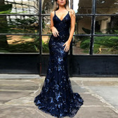 Navy Blue #28 Women Formal Gown Wedding Bridesmaid Evening Party Bodycon Prom Cocktail Dress