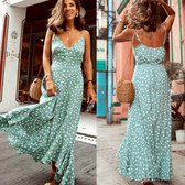 Green #2 Women Boho Long Maxi Casual Dress Evening Party Beach Dresses Summer Sundress