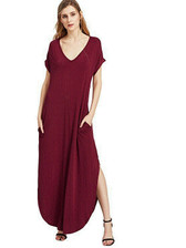 Red #3 Women Boho Long Maxi Casual Dress Evening Party Beach Dresses Summer Sundress