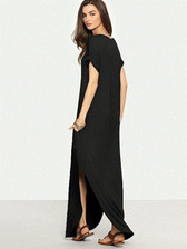 Black #3 Women Boho Long Maxi Casual Dress Evening Party Beach Dresses Summer Sundress