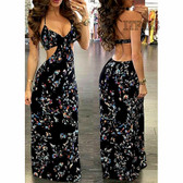 Black #4 Women Boho Long Maxi Casual Dress Evening Party Beach Dresses Summer Sundress